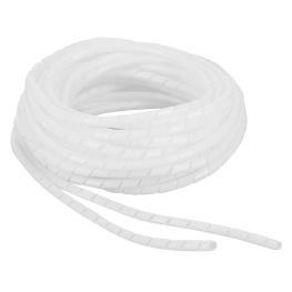 Espiral Plastico 4mm Blanco 10Mts