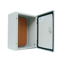 Caja Metalica 400x300x200 mm Ip65 con Placa Montaje-Bm Electric