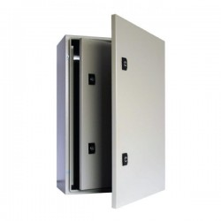 Caja Metalica 400x300x200 mm Ip65 con Puerta Interior Y Placa De Montaje-Bm Electric
