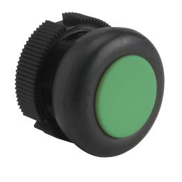 Pulsador con Capuchon 22mm Verde