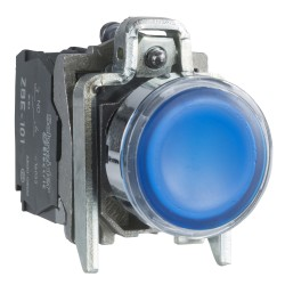Pulsador Luminoso 22mm Azul Led 24Vac
