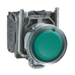 Pulsador Luminoso 22mm Verde Led 220Vac  Ex.24985