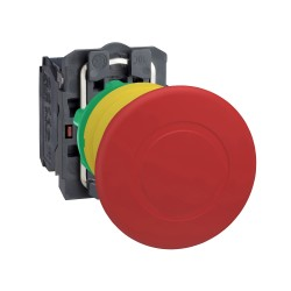 Pulsador parada De Emergencia 22mm Rojo 1Na+1Nc Tipo Hongo 40mm