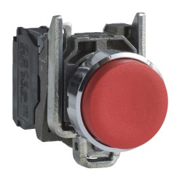 Pulsador Saliente 22mm Rojo 1Nc