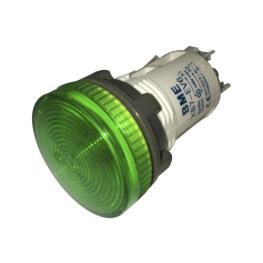 Piloto Verde LED 22 mm 220Vac Economica-Bm Electric