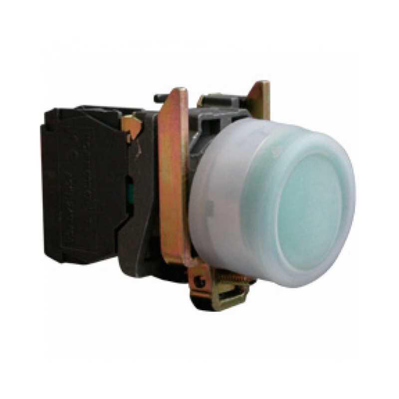 Pulsador con Capuchon 22 mm Verde 1Na BME