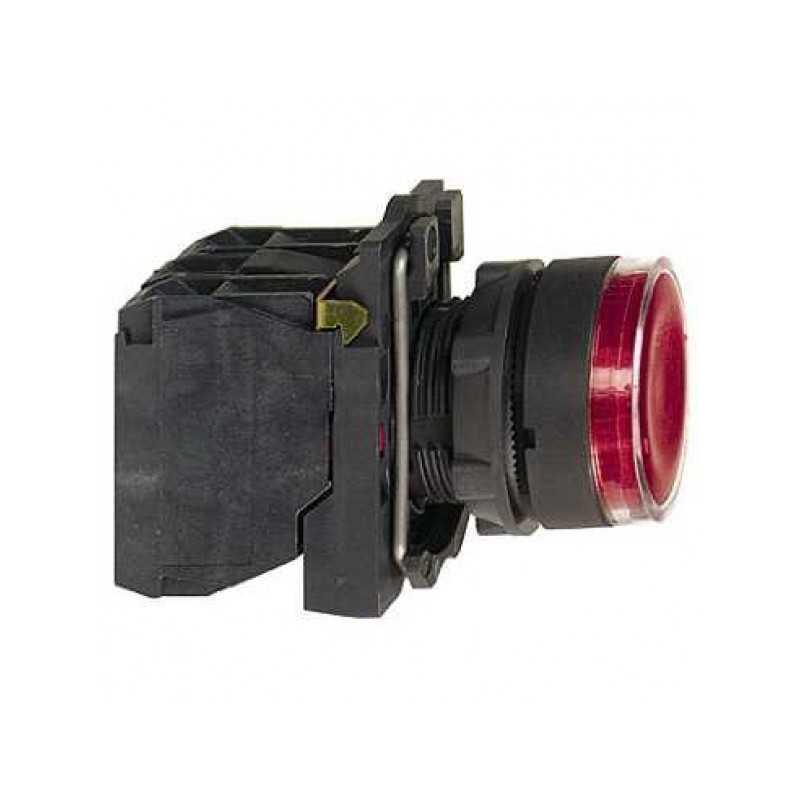 Pulsador Luminoso 22 mm Rojo LED 220Vac 1Na+1Nc-Bm Electric