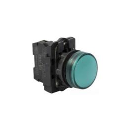 Pulsador Luminoso 22 mm Verde Directo 220Vac 1Na+1Nc-Bm Electric