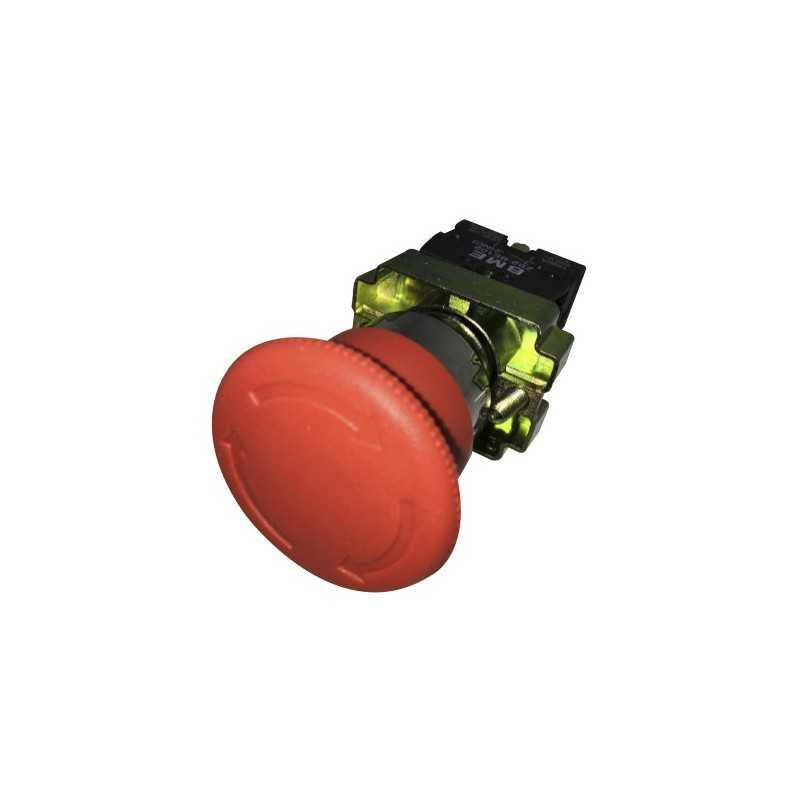 Pulsador Parada De Emergencia 22 mm 1Nc Girar para Desenclavar-Bm Electric