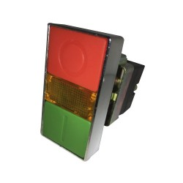 Pulsador Partir-Parar 22 mm Rojo-Verde 1Na+1Nc con Luz Piloto-Bm Electric