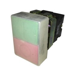 Pulsador Partir-Parar 22 mm Rojo-Verde 1Na+1Nc Ip40 sin Luz Piloto-Bm Electric