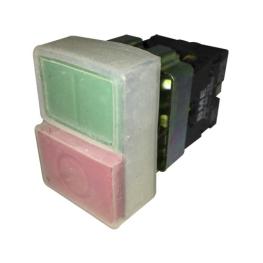 Pulsador Partir-Parar 22 mm Rojo-Verde 1Na+1Nc sin Luz Piloto-Bm Electric