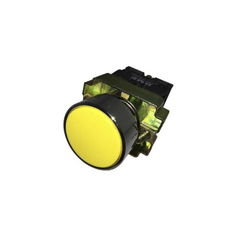 Pulsador Rasante 22 mm Amarillo 1Na-Bm Electric