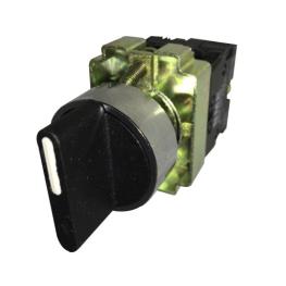 Selector Maneta Corta 3 Posiciones con Retorno 22 mm 2Na-Bm Electric