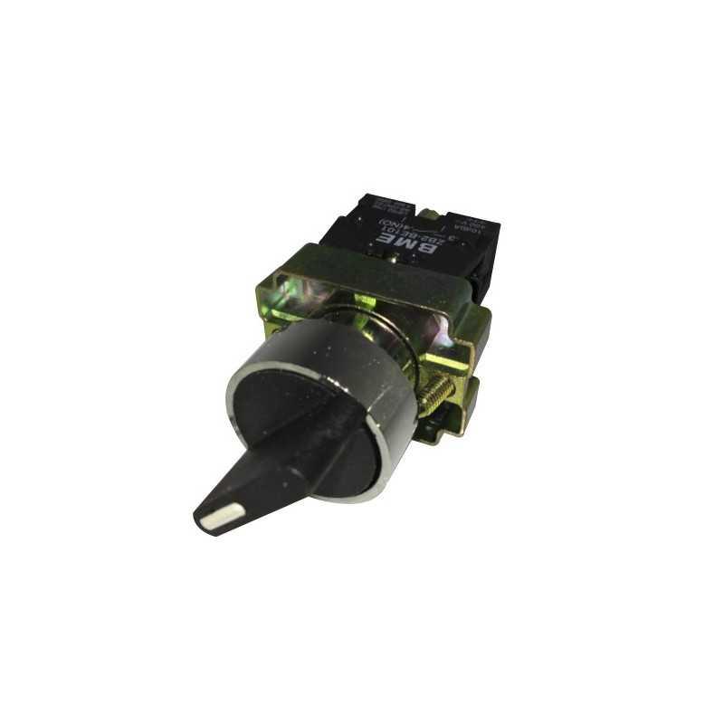 Selector Maneta Corta 3 Posicones con Retorno 22 mm 2Na-Bm Electric