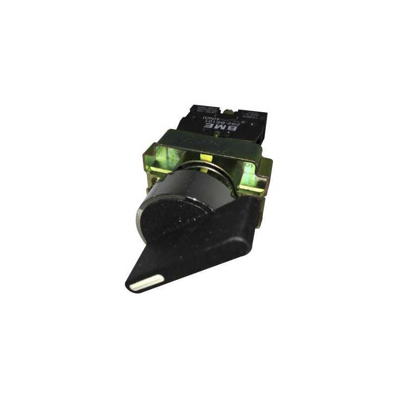 Selector Maneta Larga 2 Posiciones con Retorno 22 mm 1Na-Bm Electric