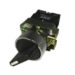 Selector Maneta Corta 2 Posiciones Fijas 22 mm 1Na+1Nc-Bm Electric