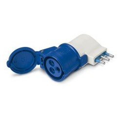 Adaptador Simple, Enchufe De 16A IP20 250V A  2P+T 16A 220V 6Hrs. - Scame