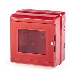 Caja Poliester 205x220x140mm  con Placa De Fondo - Scame