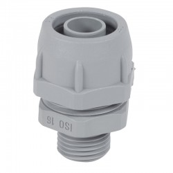 Conector Recto PVC 12-18,5mm Mf Gris 1 2-Iso16 - Legrand
