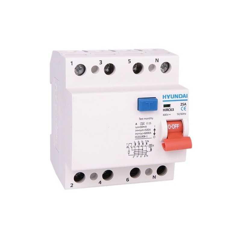 Interruptor Diferencial 4P 63A Hyundai