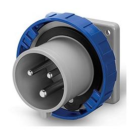 Enchufe  Macho Embutido 2P+T 32A 220V IP67 6H Fijacion 75x75mm - Scame