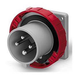 Enchufe  Macho Embutido 3P+T 16A 380V IP67 6H Fijacion 75x75mm - Scame