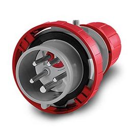 Enchufe  Macho Volante 3P+N+T 16A 380V IP67 6H Inversor Fase Giro Motor - Scame