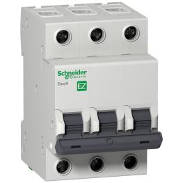 Interruptor Automatico 3P 16A C 6kA Easy 6 - Schneider-Electric