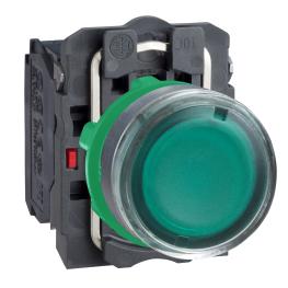 Pulsador Luminoso 22mm Verde Led 24Vac  - Schneider-Electric