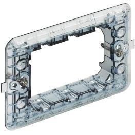 Soporte Plastico 2 Puestos para Modulo Cuadrado - Bticino