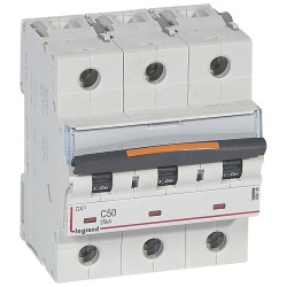 Interruptor Automatico 3P 50A C 25kA Dx3 - Legrand