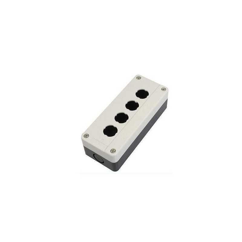 Caja Plastica P/Pulsadores 4 Perforaciones