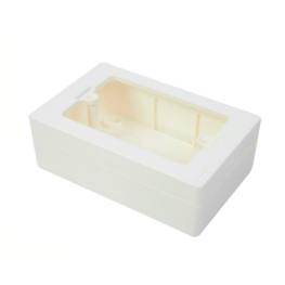 Caja 3 Modulos Sobrepuesta  Universal Chuqui - Legrand