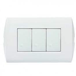 Interruptor Embutido Armado Simple 9/32 10A 250V Blanco  Modus Style - Bticino