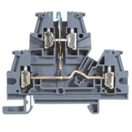 Borne De Potencia 4mm Gris con Indicador Voltaje Viking - Legrand