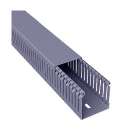 Canaleta PVC 25x25x2000mm Gris Ranurada - Schneider-Electric