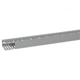 Canaleta PVC 60x40x2000mm Gris Ranurada - Legrand