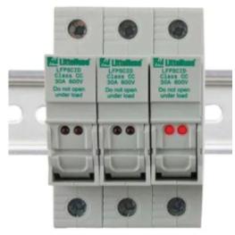 Portafusible 1P 30A 600V 10X38mm Powr-Safe Din Sin Indicacion