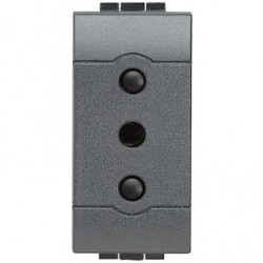 Modulo Enchufe 2P+T 10A 250V Gris - Bticino