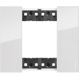 Placa 2 modulos Hielo - Bticino
