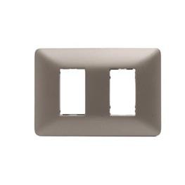 Placa 2 Puestos Aluminio Titanio - Bticino