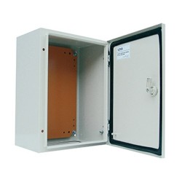 Tablero Metálico 400x300x250mm IP65 con Puerta Interior Y Placa de Monjaje