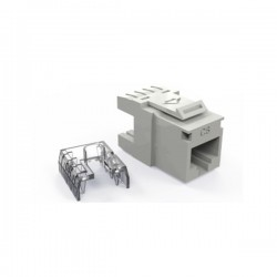Conector RJ45 Hembra Normal Unifilar CAT6 Blanco
