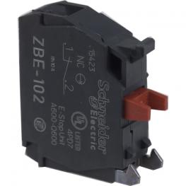 Bloque de control para pulsador 22 mm 120V AC - 6A - NC Schneider