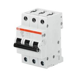 Interruptor Automatico 3P 2A C 15kA S203 - ABB