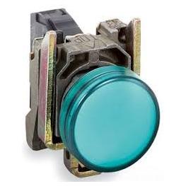 Luz piloto 22 mm metalico rasante LED verde con lente claro - 110…120V AC Schneider