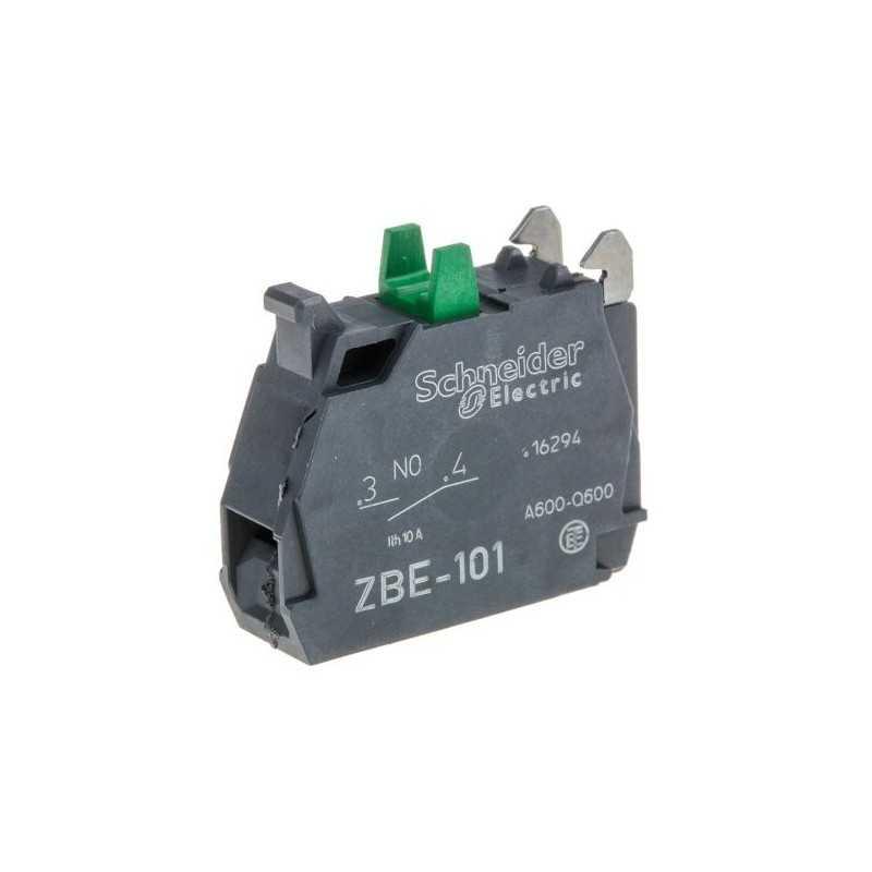 Bloque de control para pulsador 22 mm 120V AC - 6A - NA Schneider