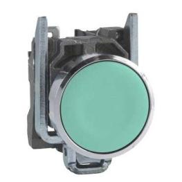 Pulsador 22 mm metalico rasante verde - NA Schneider