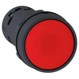 Pulsador 22 mm monolitico circular rojo spring return - NC Schneider